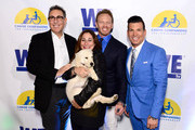 (L-R) President of WE tv Marc Juris, executive vice president of development and original programming for WE tv Lauren Gellert, actor Ian Ziering, and celebrity wedding planner David Tutera attend an event, hosted by WE tv and Ian Ziering, to raise awareness for Canine Companions for Independence at Boulevard 3 on May 7, 2015 in Los Angeles, California.