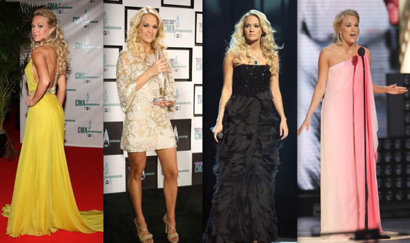 Carrie Underwood hosts the 42nd Annual Country Music Awards. Getty Images.