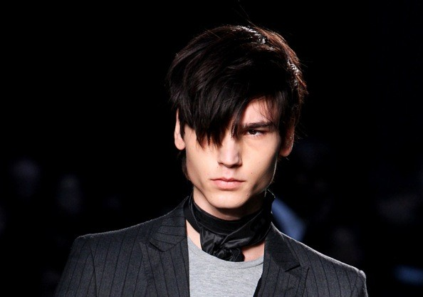 For more pictures of male models with emo hairstyles, click any of the