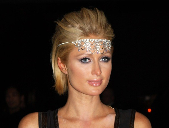 Paris Hilton's Flapper Bling - Short Prom Hairstyle Idea