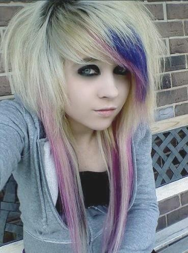 blonde emo hairstyles. Photos Emo Hairstyle With