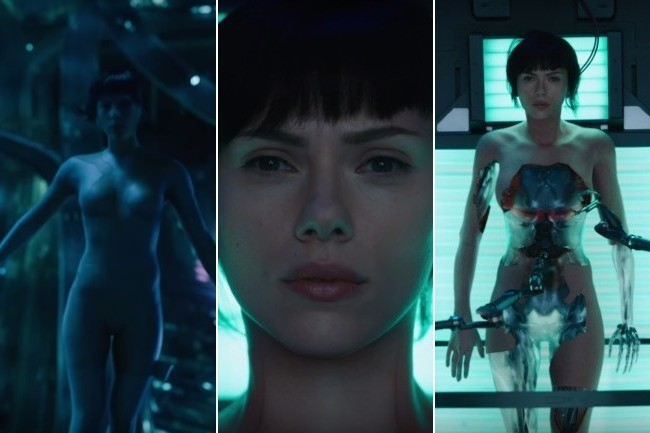 First Ghost In The Shell Trailer Shows Scarlett Johansson As Major Movie News Zimbio