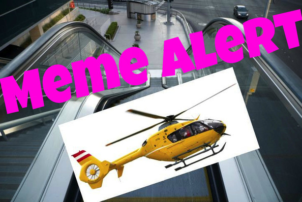 Things Not to Try at a Mall - Escalator Helicoptors