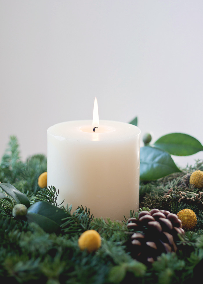 Candle wreath decor | Lonny.com