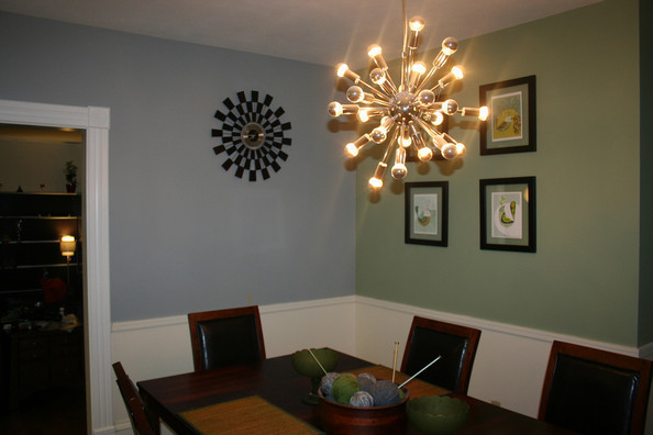 contrasting color paint ideas for your dining room zimbio. Black Bedroom Furniture Sets. Home Design Ideas