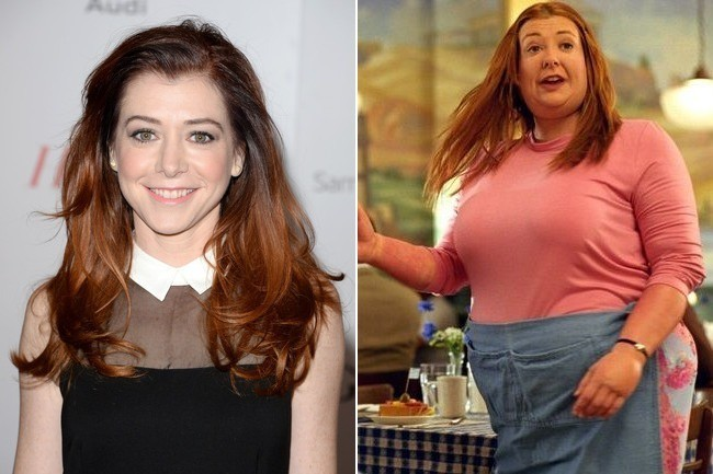 alyson hannigan actors in fat suits zimbio
