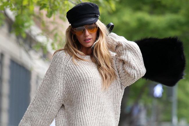 Blake Lively Models Funny Hats and Furry Bags