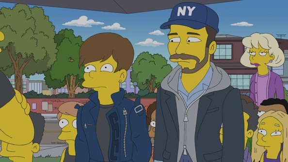 First Look: Justin Bieber Wears Cartoon Versace on 'The Simpsons'