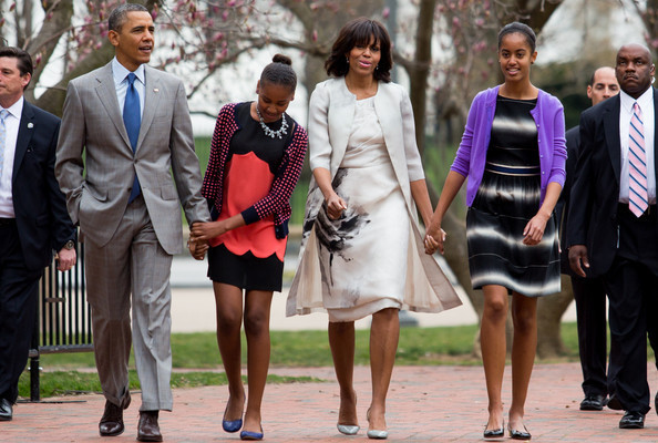 Easter at the White House: Michelle Obama Wore Prabal, Bo Wore Bunny Ears