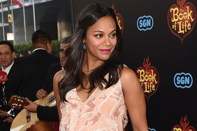 Zoe Saldana's Bohemian Tiny Twists