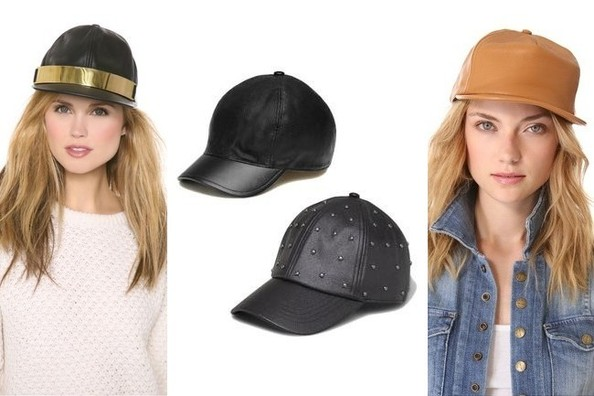 Fashion Obsession: Leather Baseball Hats
