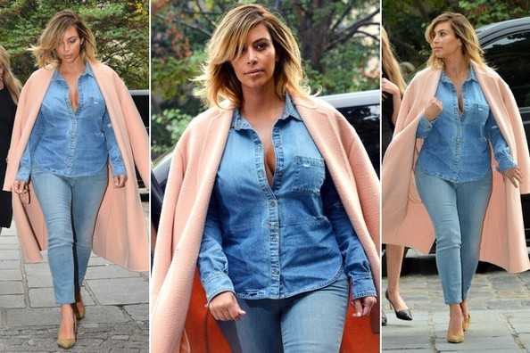 What Do You Think About Kim Kardashian in Double Denim: Do or Disaster?