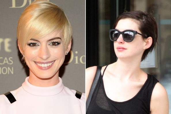 Bye, Bye Blonde: Anne Hathaway Is a Brunette Again!