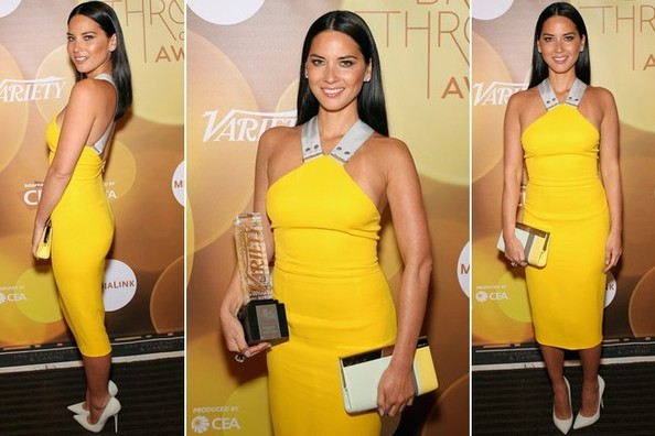 Olivia Munn Plays it Safe in a Sexy Victoria Beckham Frock