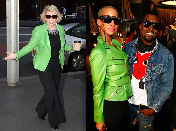 Lime Green Leather Jacket - Jacket