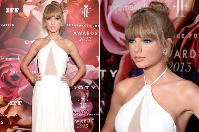 Taylor Swift's Ethereal White Gown