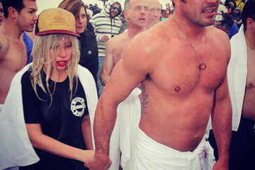 Lady Gaga Wore a Wig and Red Lipstick to the Polar Plunge and It Was Awesome