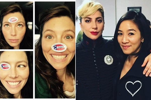 Celebrities Hit the Polls to Vote on 2016 Election Day