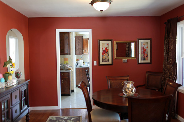 Classic deep red paint ideas for your dining room zimbio for Dining room paint ideas