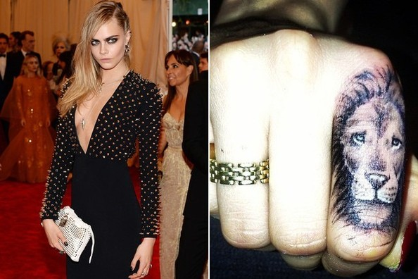 What Do We Think of Cara Delevingne's New Finger Tattoo?