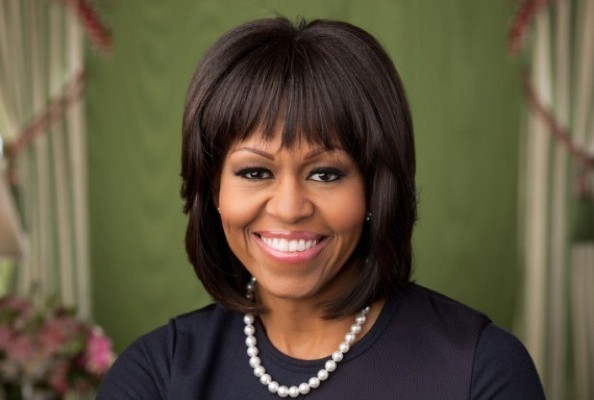 Michelle Obama's Second Official Portrait, With Bangs