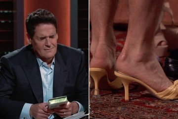Exclusive Sneak Peek: Mark Cuban Winces When the Sharks Try on High Heels on 'Shark Tank'