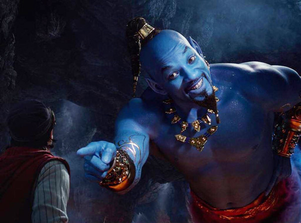 The Internet Memed The Heck Out Of Will Smith's Very Blue Genie In 'Aladdin'