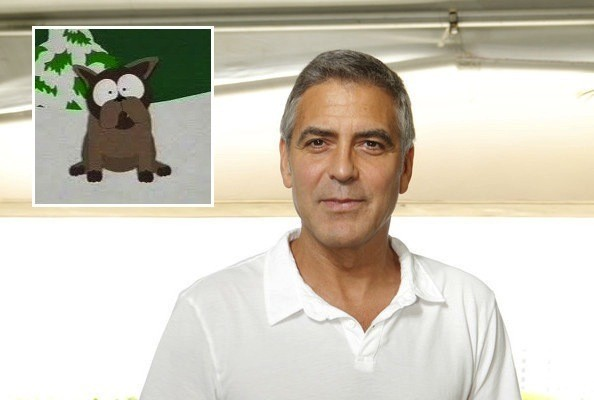 George Clooney South Park Dog