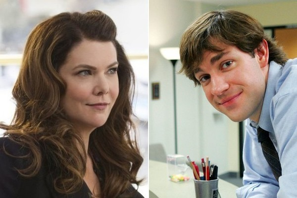 Lorelai Gilmore and Jim Halpert