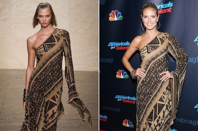 That Was Fast—Heidi Klum Wears a Look Straight off the Spring 2014 Runway