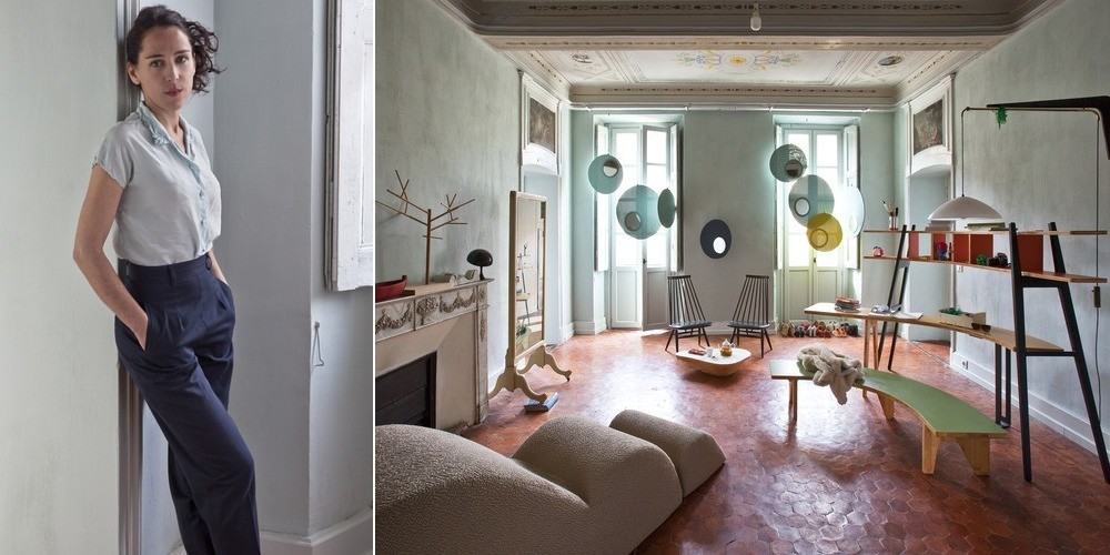French furniture designer Stéphanie Marin and her Nice home that double as a creative workspace.