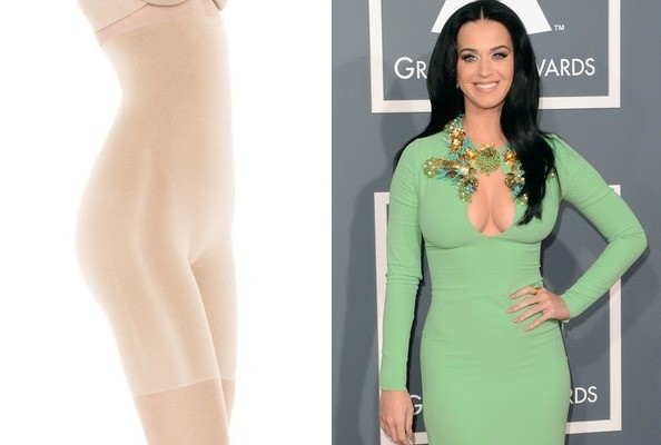 The EXACT Control-Top Underwear Katy Perry Wore Underneath THAT Green Grammys Dress