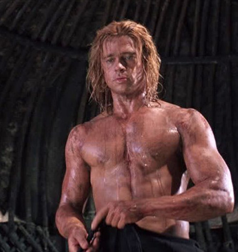 brad pitt as achilles hollywoods pantheon of scantily