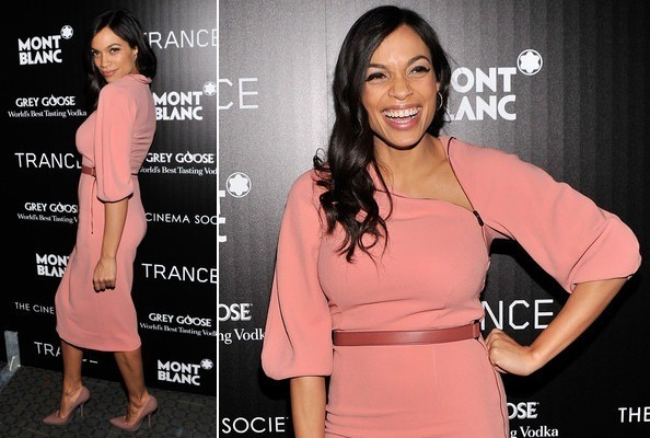Rosario Dawson Is Pretty in Pink