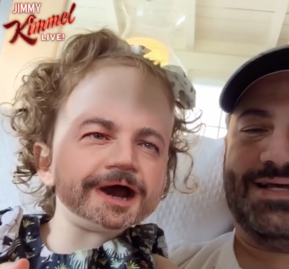 Jimmy Kimmel Face-Swaps with Baby Daughter in Hilarious ...