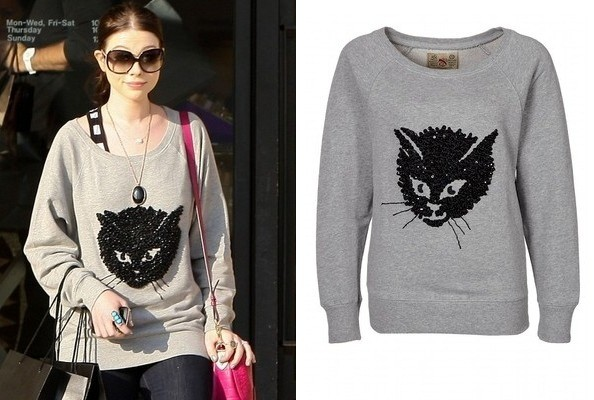Steal Her Style: Michelle Trachtenberg's French Connection Sweatshirt