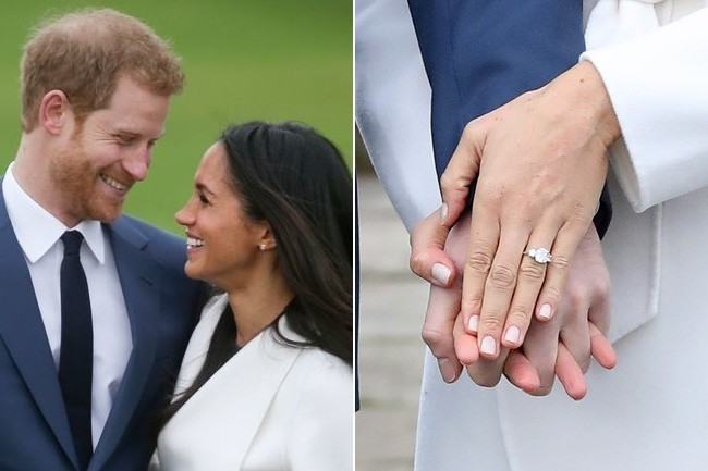 harry designed meghan markles engagement ring himself with princess dianas diamonds - Princess Diana Wedding Ring