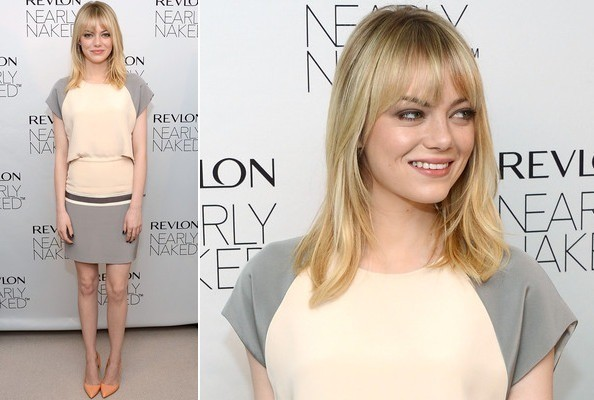 Emma Stone's Sleek Silk Neutrals