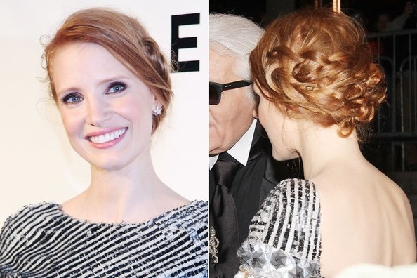Let's Take a Moment to Admire Jessica Chastain's Pretty Plaited Updo