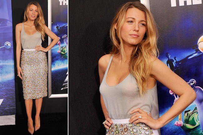 Obsessed: Blake Lively's Bejeweled Pencil Skirt