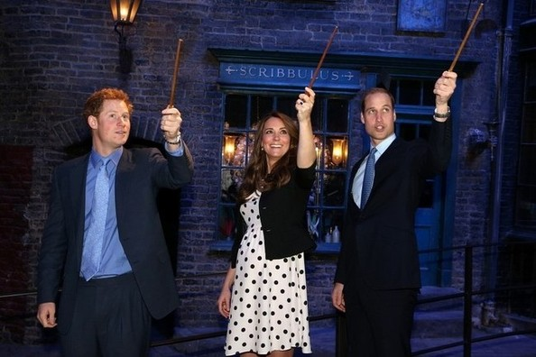 Kate Middleton Visited Hogwarts, Wore Polka Dots