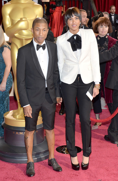 Pharrell Goes to the Oscars Without a Hat or Pants ...