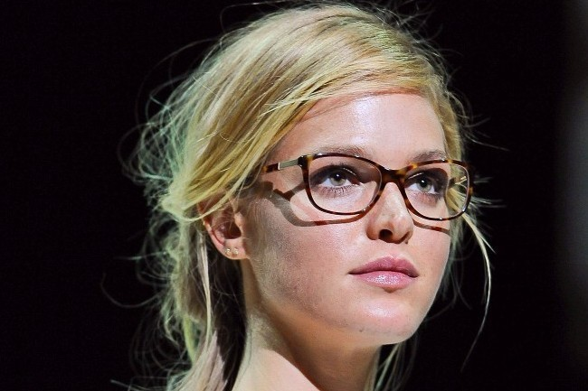 Erin Heatherton Rocks Glasses on the Runway