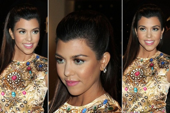 We're Digging Kourtney Kardashian's Matchy-Matchy Makeup