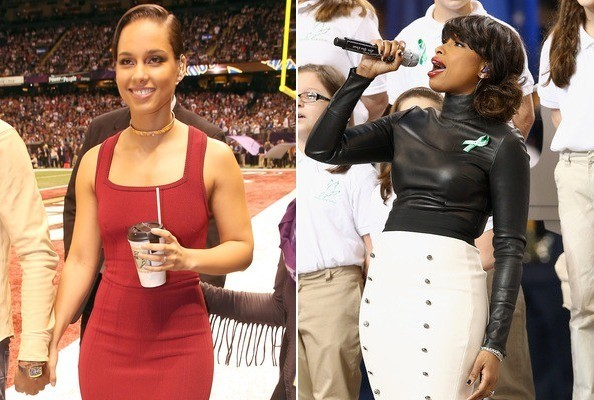 Don't Think We Forgot About Alicia Keys and Jennifer Hudson's Super Bowl Style