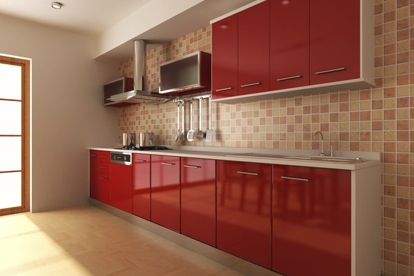 Kitchen Backsplash Red backspash for a red kitchen - kitchen backsplash photos - zimbio