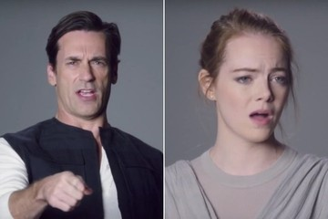 Jon Hamm and Emma Stone Tried out for 'Star Wars: The Force Awakens' on 'SNL'