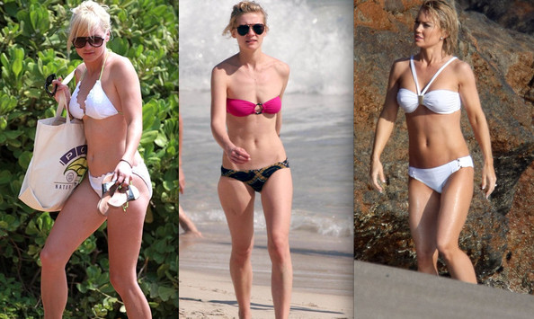 Hollywood's Sexiest Blondes Bare Beach Bodies