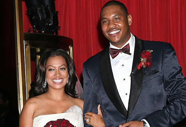 married NBA star Carmelo Anthony at New York's Cipriani restaurant.