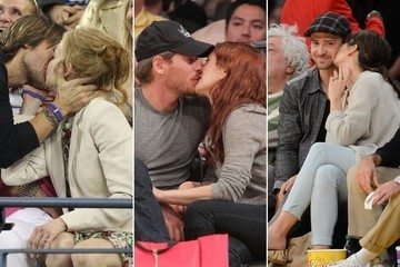 Celebrities Caught on Kiss Cam